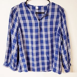 Old Navy plaid blouse